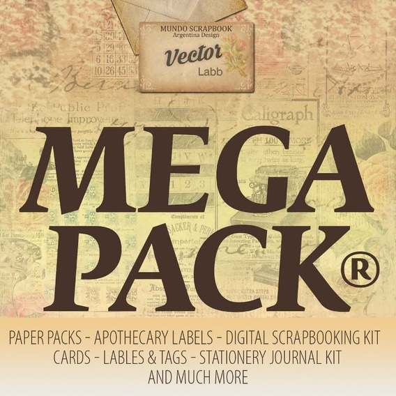 Mega Kit Papeles Imprimibles Scrapbooking Mas De 20000