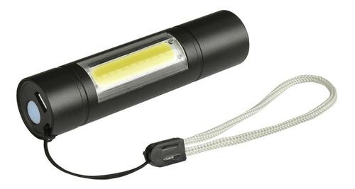 Linterna Led Aluminio Led Flash Recargable Usb Estuche 1000l