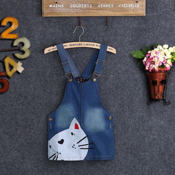 Vestido Jardinera Jeans Denim Niña 2-3 Años Ropa Bebé