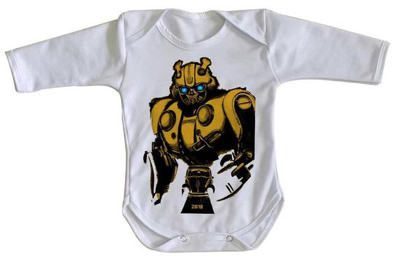Body Criança Roupa Bebê Bumblebee Fusca Transformers Robo