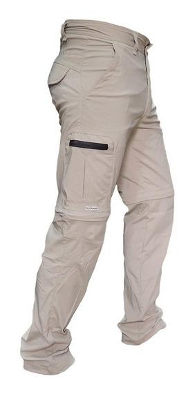 Pantalon Cargo Desmontable Secado Rapido Bermuda Elastizado