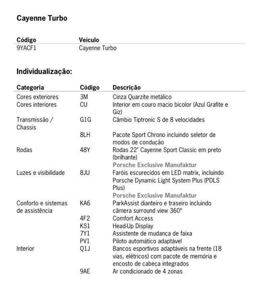 Porsche Cayenne 4.0 V8 Gasolina Turbo Awd Tiptronic S