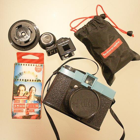 Câmera Diana Lomography Lomo Diana F+ Kit Fish Eye