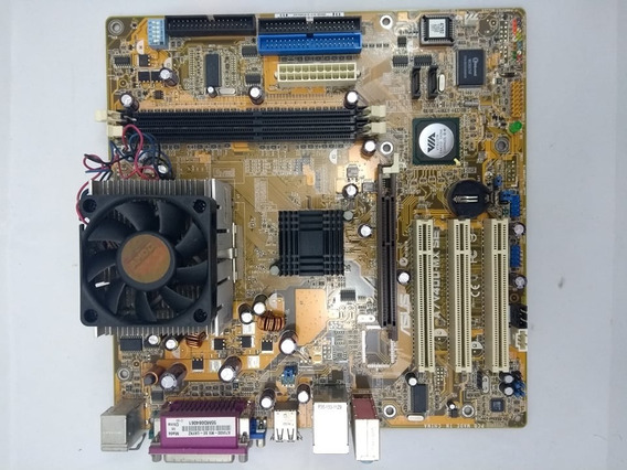 Kit Placa Mãe Asus A7v400-mx Se + Proc. Semprom