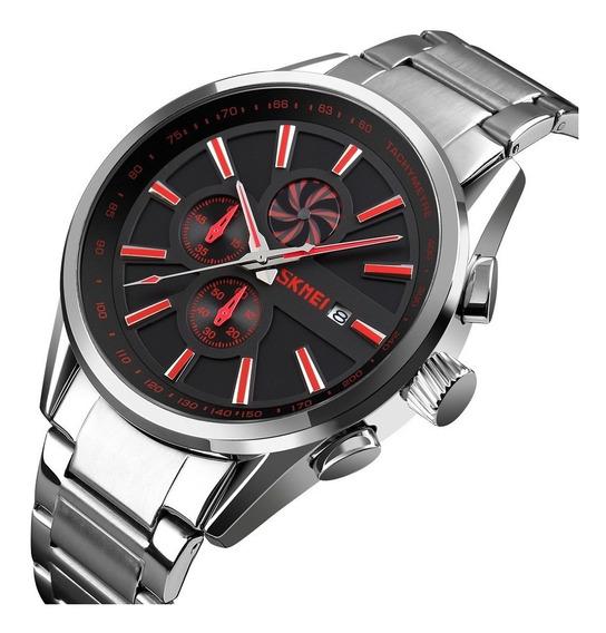 Reloj Hombre Skmei 9175 Acero Inoxidable Diales Funcionales