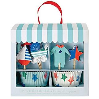 Meri Meri 451310 Bebé Tienda Azul Cupcake Kit Novedad
