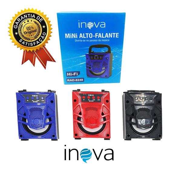 Mini Alto-falante Inova Portátil Rad-8248 Usb Bluetooth Fm