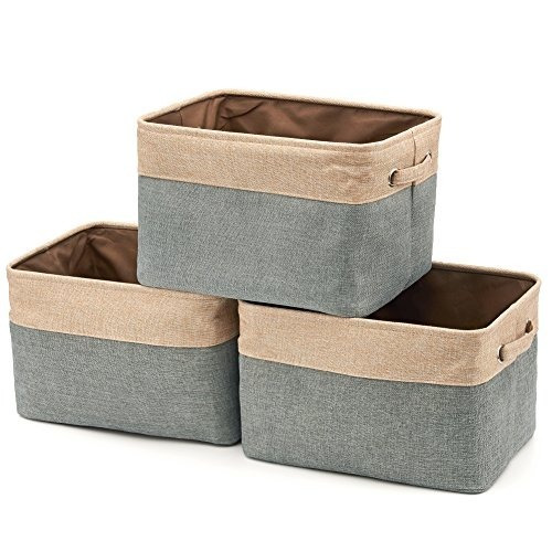 Collapsible Storage Bin Basket [3-pack] Ezoware Foldable Can