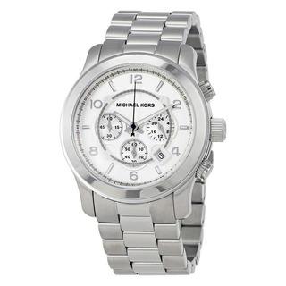 Reloj Michael Kors Oversized Plateado Crono Unisex Mk8086