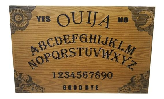 Tabuleiro Ouija Impresso Com Ponteiro E Chaveiro Verniz R