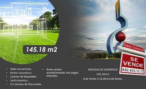 Se Vende Terreno De 145.18 M2 En San Isidro Juriquilla, Único Y De Oportunidad