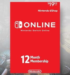 Cartão Nintendo Switch Online 12 Meses Us Gift Card Presente