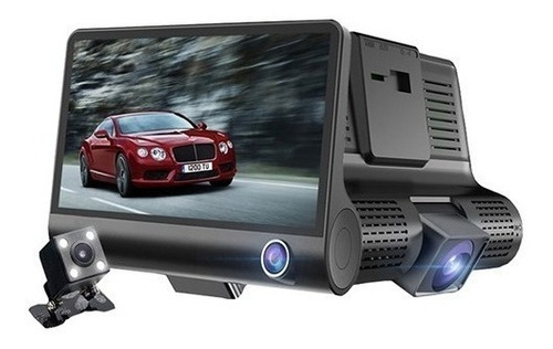 Camara Dvr Para Carro Triple Reversa 1080p Fullhd 4.3  Audio