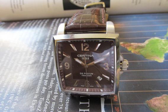 Relógio Certina Ds Podiium Quartz Deployant Saphire
