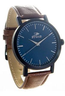 Reloj Stone Quartz Acero Classic Cuero Garantia Oficial 12m.