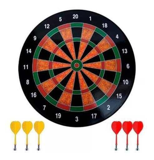 Jogo De Dardo Tabuleiro Magnético Alvo 40,5cm Com 6 Dardos
