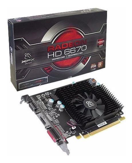 Placa De Vídeo Xfx Radeon Hd 6670 2gb