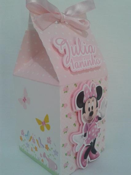 Kit Festa Jardim Rosa Minie Lembrancinhas Personalizadas 3d