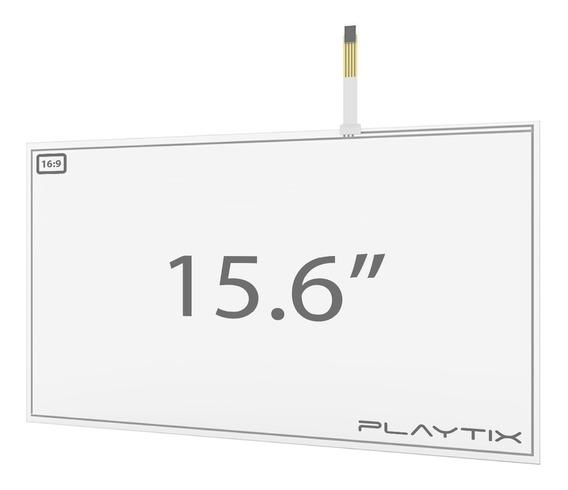 Kit Sistema Touch Screen Resistivo 15.6 Usb 4 Vias Playtix