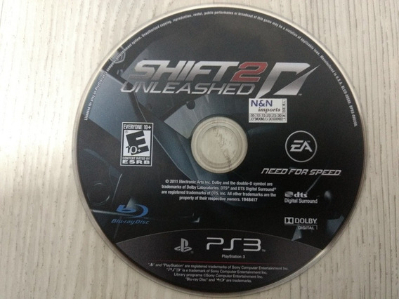 Jogo Ps3 Need For Speed Shift 2 Unleashed Sem Caixa