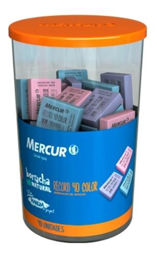 Borracha (colorida) Record 40 Color Mercur  Pote-40