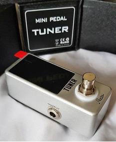 Mini Pedal Afinador Para Guitarra Baixo Violão Super Pequeno