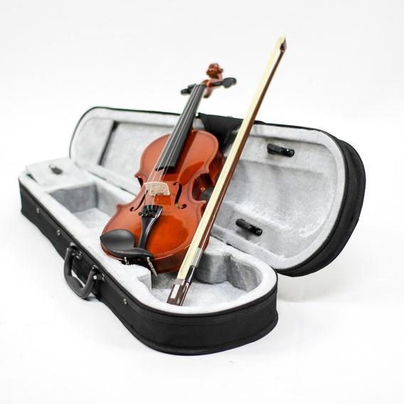 Violino Custom 4/4 C/ Case Acabamento Rajado Lindo Completo