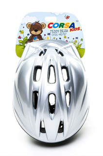 Capacete Bicicleta Infantil Corsa Kids Tamanho M Prata