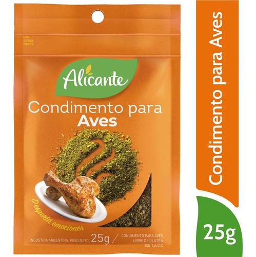 Alicante Condimento Para Aves X 25 Gr