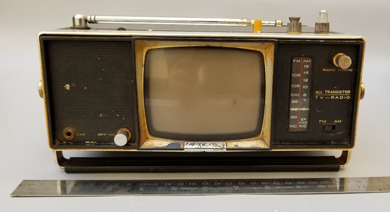 Micro Tv Crown Da Década De 70 Com Acessórios, No Estado.