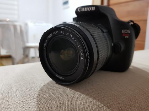 Câmera Canon T5 Com Duas Lentes 18-55 E 50mm - Semi Nova
