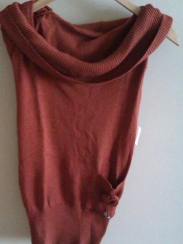 Sweaters De Hilo Bordados/calados Talle S
