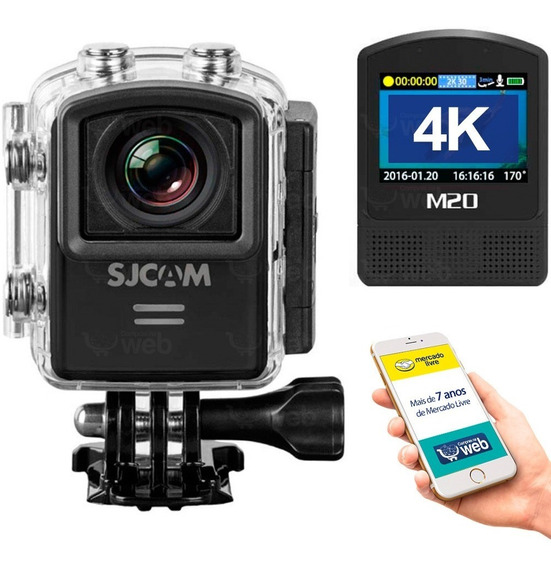 Camera Sjcam M20 4k Full Hd Gopro Wifi Capacete Bike Carro