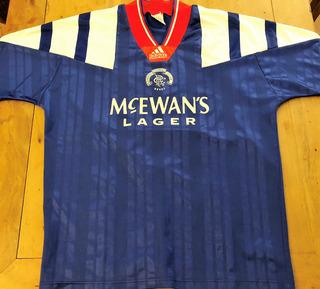 Camisa Glasgow Rangers 1992 De Jogo Raríssima