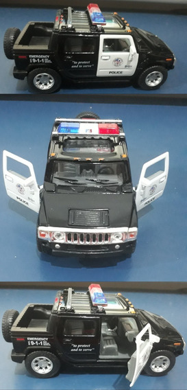 Miniatura Clássica Hummer H2 Sut Police 1 S/ Embalagem Usado