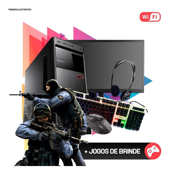 Pc Gamer Completo I3 4ª,8gb Ram Ddr3,hd 1tb,gt 710 2gb Nf