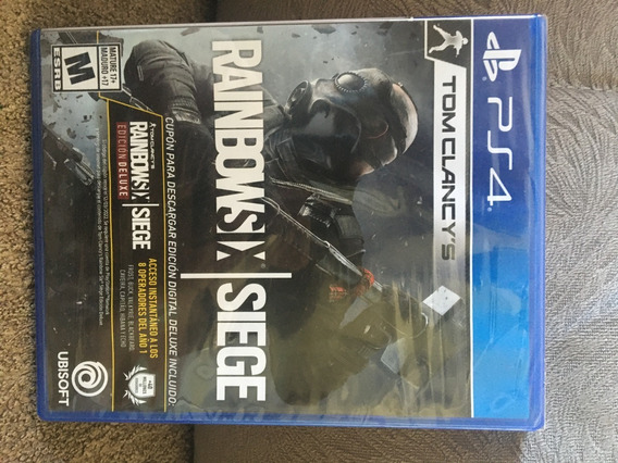 Ps4 Rainbow Six Siege Deluxe (edição Que Vem Com Ps4 Raro!!)