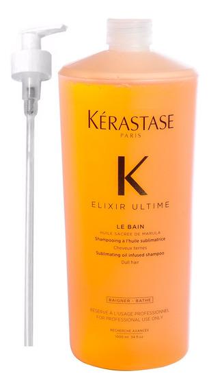 Kerastase Elixir Ultime Shampoo X 1000ml Aceite Argan Loreal