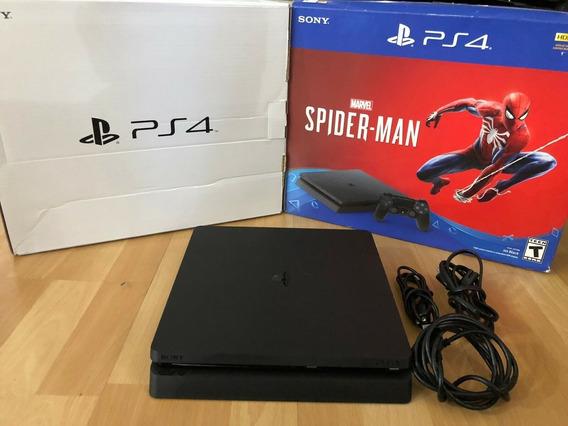 Ps4 Slim 1tb 2 Controle Dualshock4 + Spiderman Pt-br Bivolt