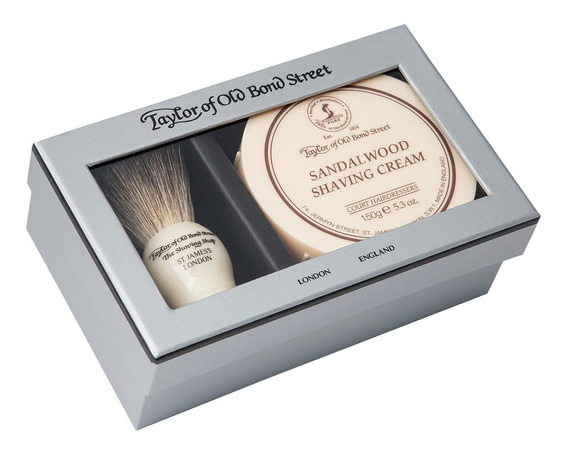 Taylor´s Set Crema Para Afeitar Sandalo 150gr Y Brocha Tejon