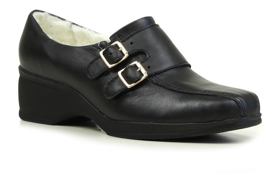 Sapato Feminino Forrado Em Lã Sintética Ref.:613