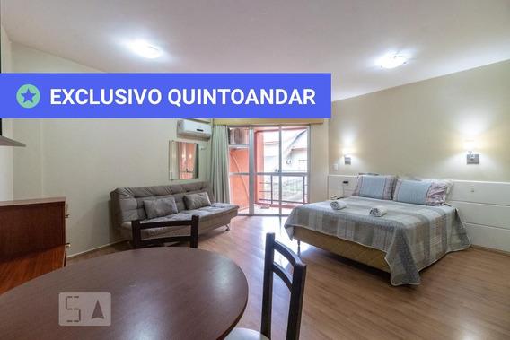 Studio No 3º Andar Mobiliado Com 1 Dormitório - Id: 892976415 - 276415