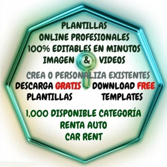 Plantillas Renta Auto 1000 Editable 100% Imagen & Video