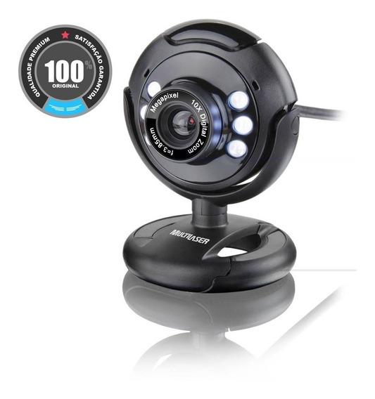 Webcam Vision 16mp Com Microfone Embutido Wc045 Multilaser