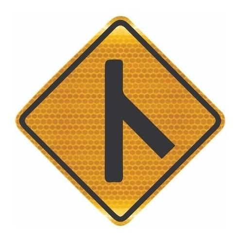 Placa De Trânsito Confluência À Direita A-13b Ti
