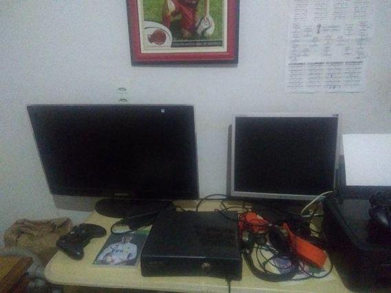 Xbox 360 + 2 Controles + Alguns Jogos