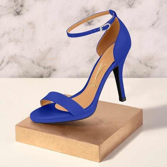 Sandalias Azules Taco Fino, Sandalias Tira Fina Azules