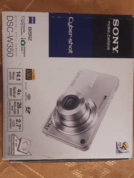 Camara Sony Cyber-shot Carl Zeiss Dsc-w350 Negra 14mp