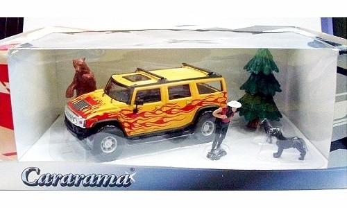 Hummer H2 Cararama 1:43 Carros Miniaturas Diorama Réplicas