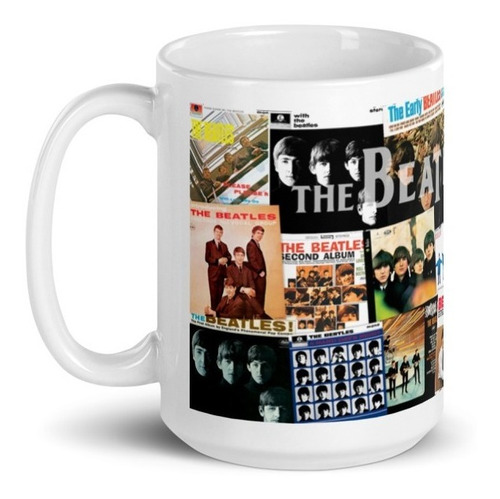 Imagen 1 de 4 de Taza Grande The Beatles